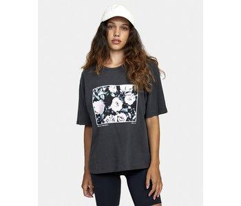 Rvca - T-shirt femme framed washed black
