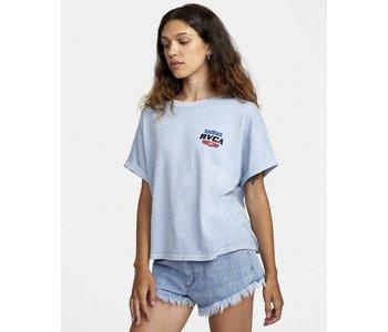 Rvca - T-shirt femme rodeo team blue dust