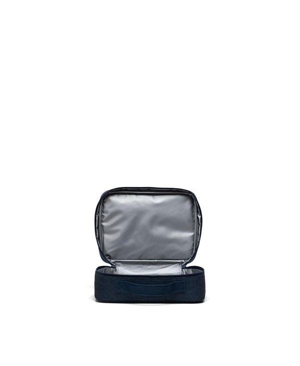 Herschel - Boîte à lunch pop quiz indigo denim crosshatch