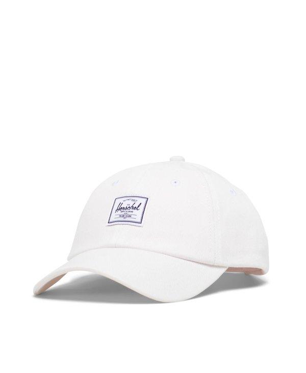 Herschel - Casquette sylas blanc de blanc denim