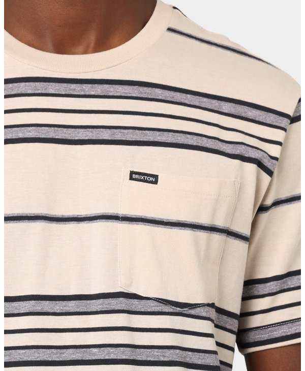 Brixton - T-shirt homme hilt pocket knit beige