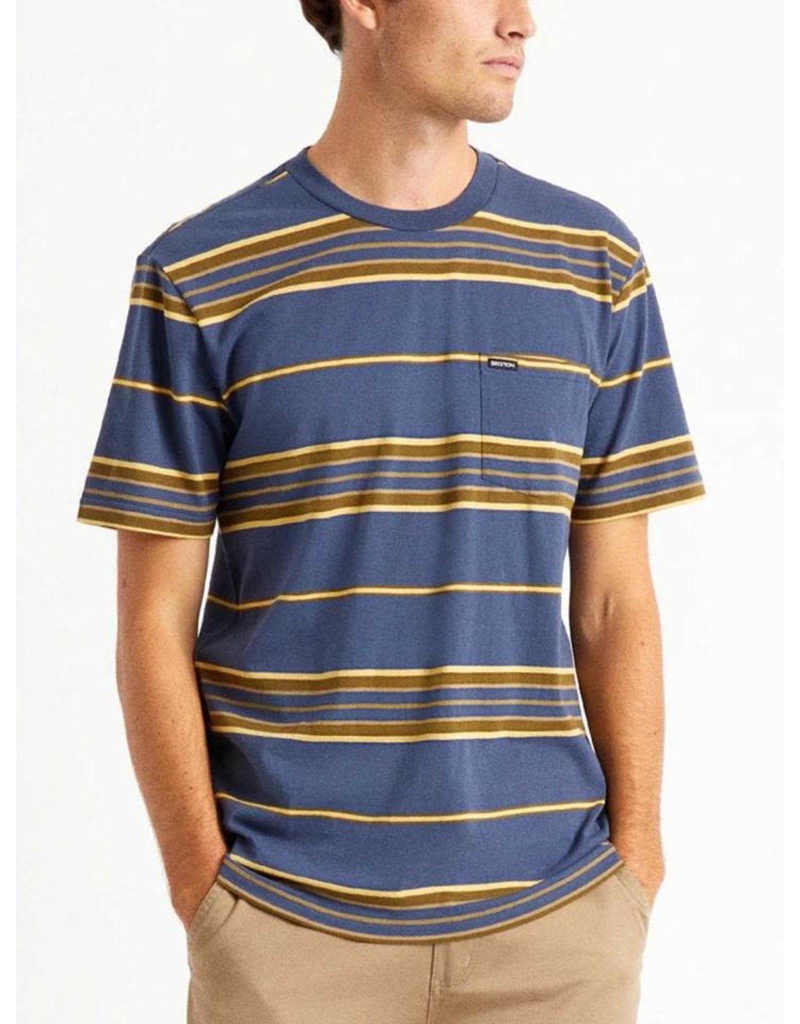 Brixton Brixton - T-shirt homme hilt pocket knit washed navy/blonde