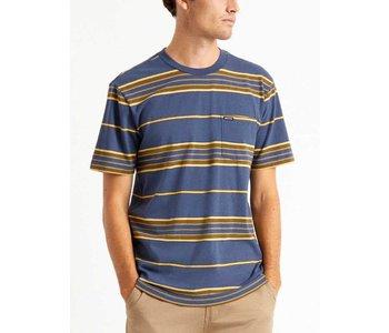 Brixton - T-shirt homme hilt pocket knit washed navy/blonde