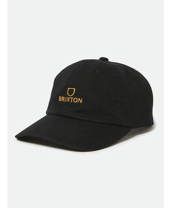 Brixton - Casquette homme alpha strapback black/gold
