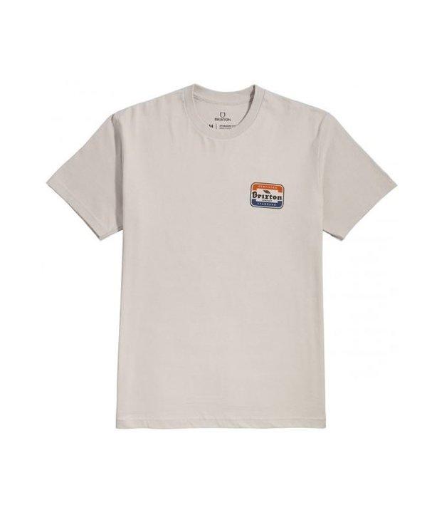 Brixton - T-shirt homme quill stt silver