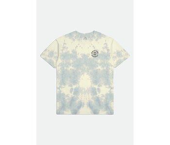Brixton - T-shirt homme oath v stt yellow tie dye