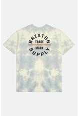 Brixton Brixton - T-shirt homme oath v stt yellow tie dye
