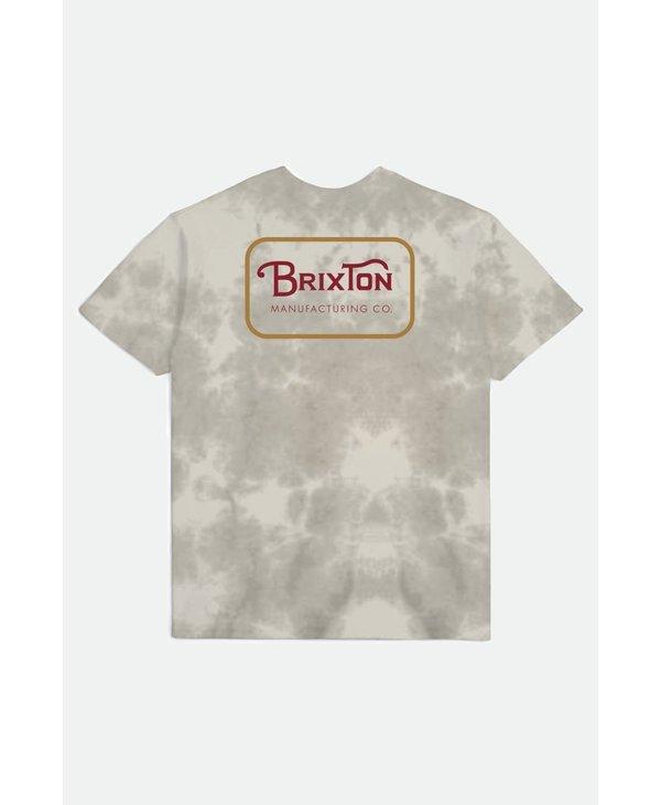 Brixton - T-shirt homme grade standard beige tie dye