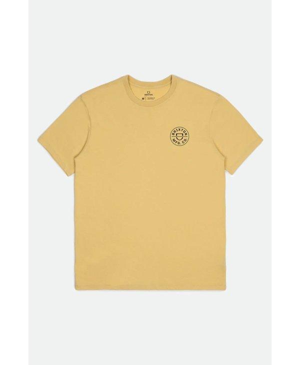 Brixton - T-shirt homme crest II stt antique gold/black