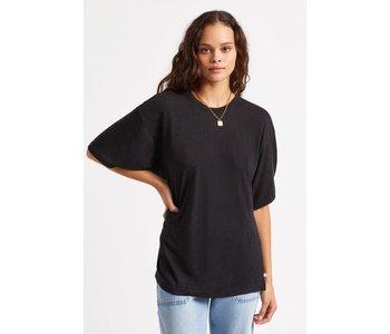 Brixton - T-shirt femme montauk oversized black