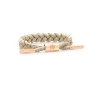 Rastaclat - Bracelet femme braided missy nude/peach gold