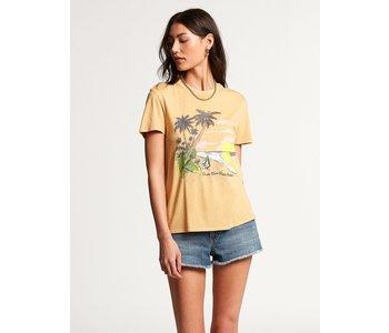 Volcom - T-shirt femme lock it up dust gold