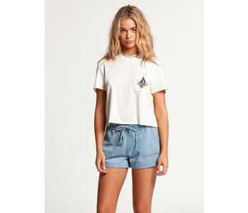 Volcom - T-shirt femme pocket dial star white