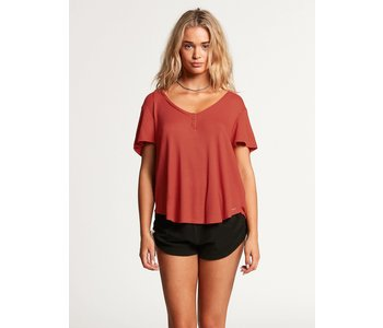 Volcom - T-shirt lived in lounge thermal rosewood