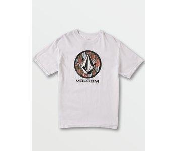 Volcom - T-shirt junior cryptic stone white