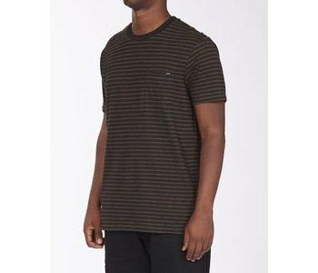 Billabong - T-shirt homme A/div el dorado hemp stripe crew black