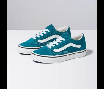 Vans - Soulier junior old skool blue coral/true white