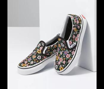 Vans - Soulier junior classic slip-on fun floral black/true white