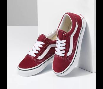 Vans - Soulier junior old skool pomegranate/true white