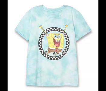 Vans - T-shirt femme vans x spongebob jump out crew blue
