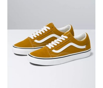Vans - Soulier junior old skool golden brown/true white