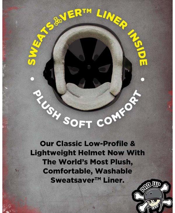 187 - Casque skateboard sweatsaver liner black glossy
