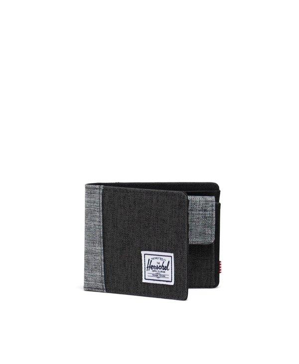 Herschel - Portefeuille  homme roy coin blk crosshatch/blk/red crosshatch