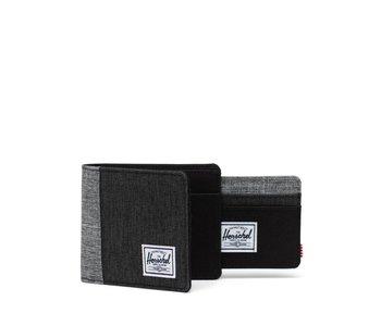Herschel -Portefeuille homme andy blk crosshatch/blk/red crosshatch