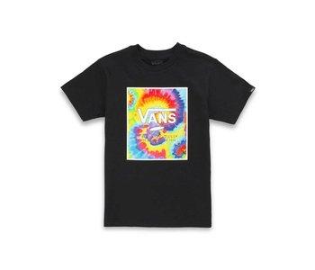 Vans - T-shirt junior print box black/spiral tie dye
