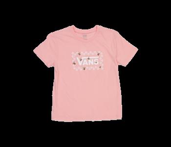 Vans - T-shirt junior patch check powder pink