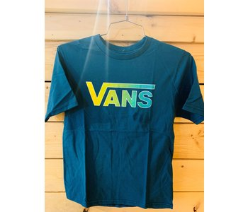 Vans - T-shirt junior classic logo blue coral/gradient