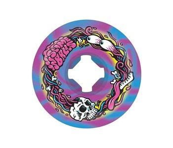 Ojs Wheels - Roue skateboard slime balls brains speed balls blue/purple swirl 99A