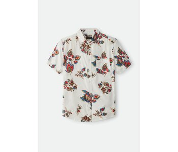 Brixton - Chemise homme charter print off white/red