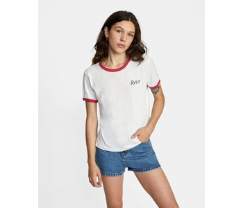 Rvca - T-shirt femme scribble white