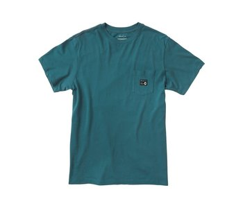 Rvca - T-shirt homme anp pocket peacock blue
