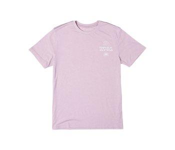 Rvca - T-shirt homme vibrations pale mauve