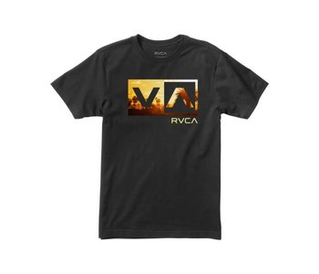 Rvca - T-shirt junior balance box black