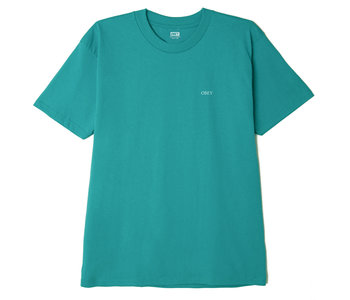 Obey - T-shirt homme rise above rose teal