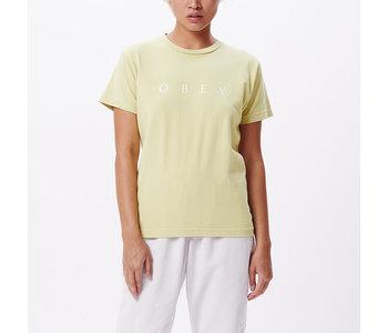 Obey - T-shirt femme novel obey pale green