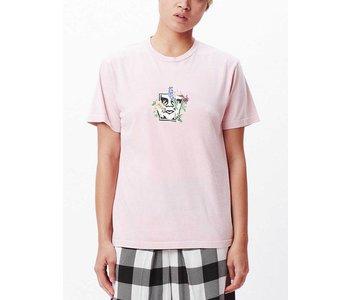 Obey - T-shirt femme flower burst peach