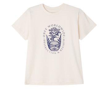 Obey - T-shirt femme deconstruction & rebirth cream