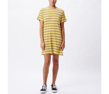 Obey - Robe femme fireside yellow multi