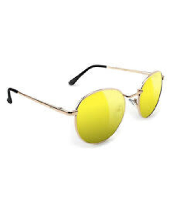 Glassy - Lunette soleil ridley gold/yellow lens