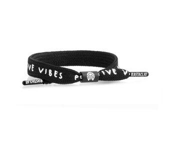Rastaclat - Bracelet homme single lace positive vibes black