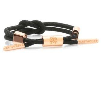 Rastaclat - Bracelet femme knotted Dahlia 2 black/peach/gold