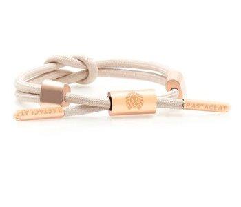 Rastaclat - Bracelet femme knotted lana 2 nude/peach/gold