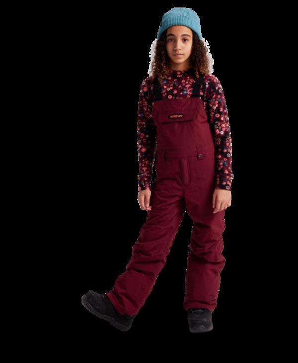 Burton - Pantalon junior skylar bib mulled berry