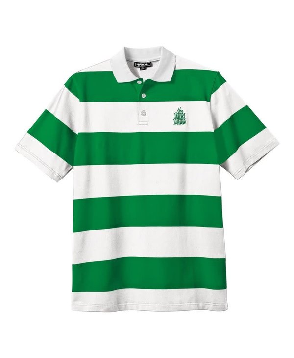 Heritage - Polo homme striped green/white