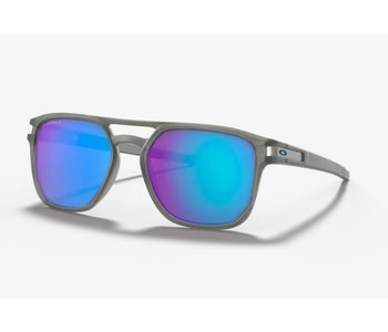 Oakley - Lunette homme latch beta matte grey ink frame/ prizm sapphire iridium polarized lenses