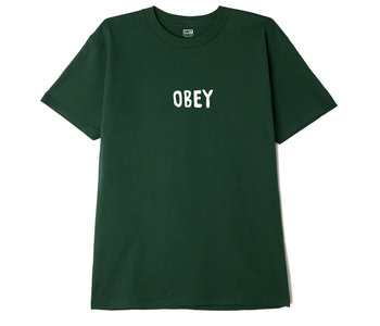 Obey - T-shirt homme og classic forest green